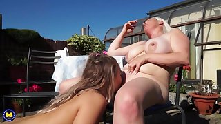 Hot lesbian sex with mature mothers