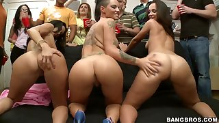 Horny Ava Addams,Christy Mack and Jada Stevens in action