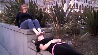 streetgirls feet sniffing part. 2.