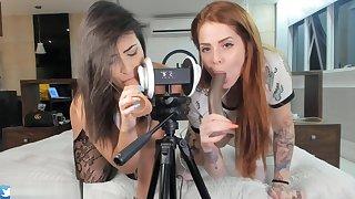 ASMR 3DIO Blowjob Emanuelly Raquel And Marukarv Brazilian Girls ORAL BBC