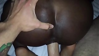 EPIC @Andregotbars POV Blowjob! Black girl Slurps on fat WHITE cock