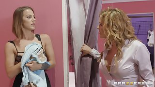 passionate lesbian Evelin Stone use a strapon to please her go steady with