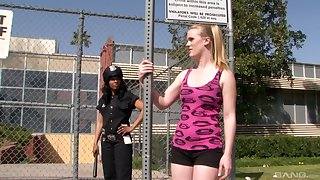 Interracial lesbian fuck is put emphasize favorite sex game for Anita Peida