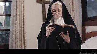 Sinful nun Serene Siren is literally preparing wide till soaking pussy