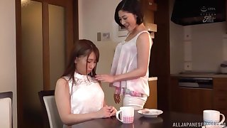 The first lesbian experience is adorable for Asian Sunohara Miki