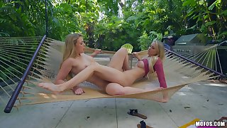 Close up lesbian video with shaved Zoey Taylor added to Addie Andrews