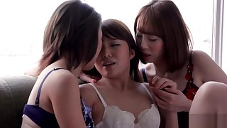 AYA KISAKI & SHINO AOI & AYUMI KUROKI - THREESOME INTENSE KISSING Coupled with Copulation