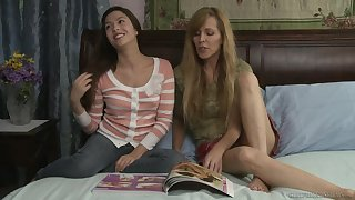 Handsome amateurs Nicole Moore and Cassie Laine council love